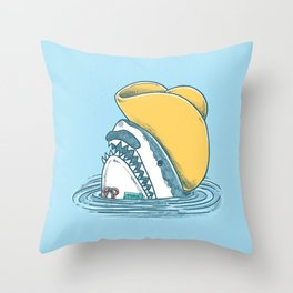 Funny Hat Shark Throw Pillow