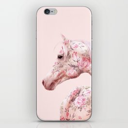 FLORAL HORSE iPhone Skin
