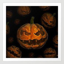 Pumpkin Hallowen Art Print