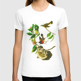 Vintage Scientific Bird & Botanical Illustration T-shirt