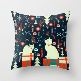 Look what Santa brought Throw Pillow