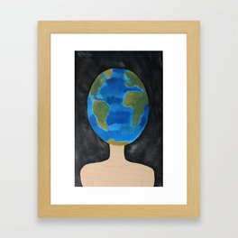 Thinking Globally phone case  Framed Art Print