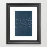 Rough Waves Framed Art Print