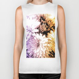 Mums abstract with shades of purple and gold Biker Tank