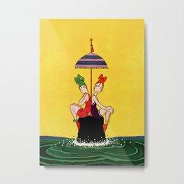 """""""Bathing Beauties"""" by Annie Fish Metal Print"""
