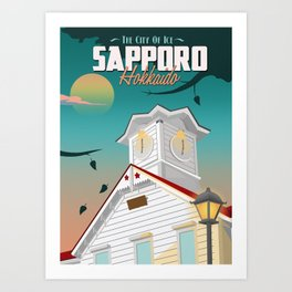 Sapporo, The City Of Ice Art Print