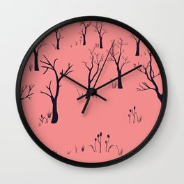 Bare Forest Wall Clock