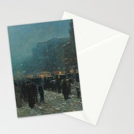 Broadway and 42nd Street,1902 by Childe Hassam Stationery Cards