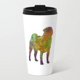 Pug 01 in watercolor Travel Mug