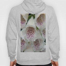 White Foxgloves - Garden Photography Hoody