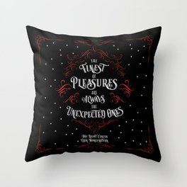 The finest of pleasures are always the unexpected ones. The Night Circus Throw Pillow