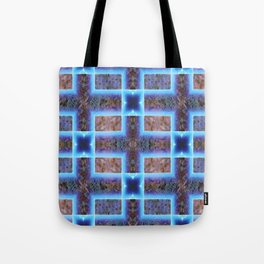 geometric ink blot and smudge ancient techno geek pattern Tote Bag