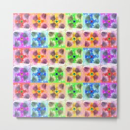 A Rainbow Color Repeat Pattern Metal Print