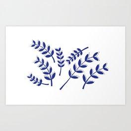 Roman Branches Pattern Art Print