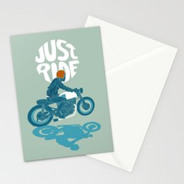 just ride Stationery Cards