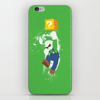 luigi iPhone & iPod Skins featuring Luigi Paint by The Daily Robot