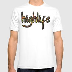 highlife MEDIUM White Mens Fitted Tee