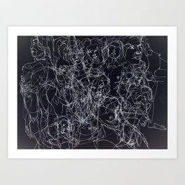 scribblesheet one negative Art Print