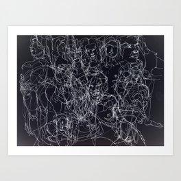 scribblesheet one negative Art Print