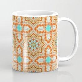 Orange kaleidoscope Star Coffee Mug