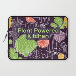 Plant Powered Kitchen Veggie Pattern Background Laptop Sleeve