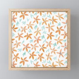Floral #3 | Mint and Orange Palette Framed Mini Art Print