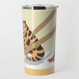 Tiger Rice with Chopstick Travel Mug