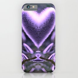 Sprouting Love (violet/green) iPhone Case