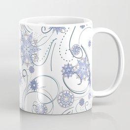 Whirly Snowflakes white Coffee Mug