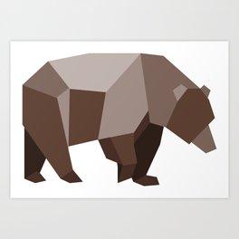 Origami Bear Art Print