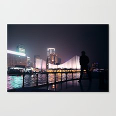 Hong Kong harbour Canvas Print