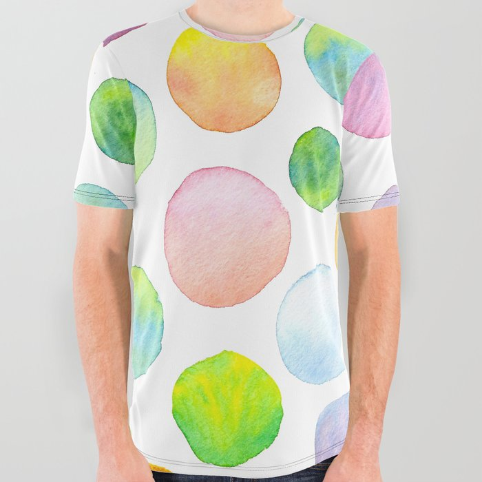 Blending Bubbles All Over Graphic Tee