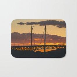 Vancouver Sunset sky textures Bath Mat