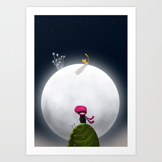 ...And the Moon Art Print