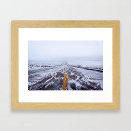 Endless Icy Road Framed Art Print