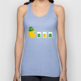 Video Game And Beer Funny Pac-Man St. Patricks Day Unisex Tank Top