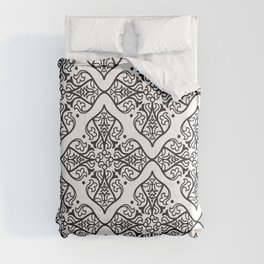 Black & White Boho Floral Comforters