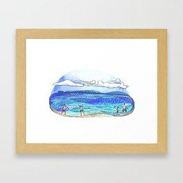 Fris - Beach Framed Art Print