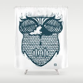 owl wave Shower Curtain