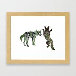 Neon Jackals Framed Art Print