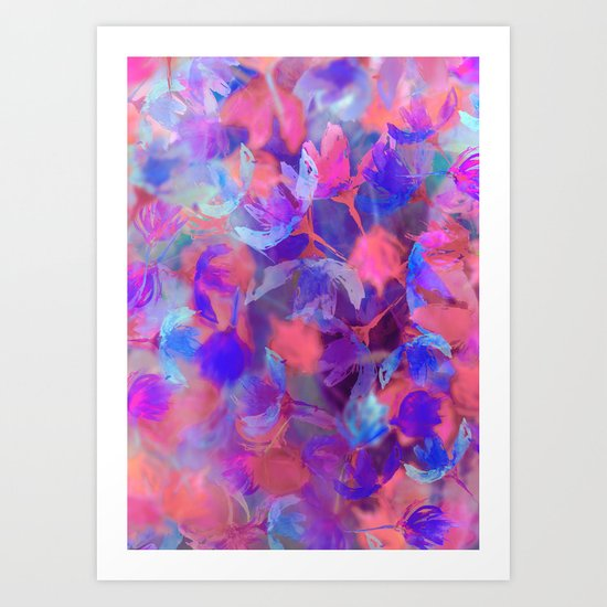 Hazy Flora  Art Print