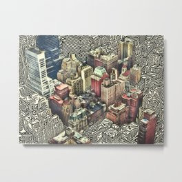 Patterns of Places - New York Metal Print