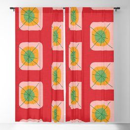 Flower Eggs Red Blackout Curtain