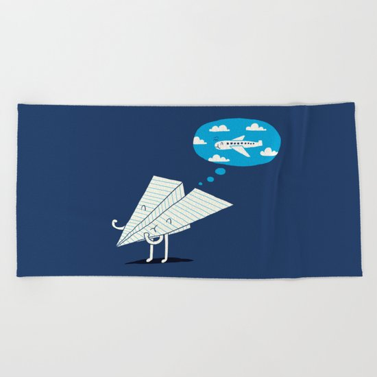 When I grow up Beach Towel