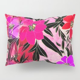 Faded Rosie Peonies Pillow Sham