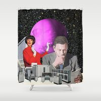 computer Shower Curtains featuring Computer Life by TRASH RIOT