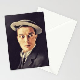Buster Keaton, Vintage Actor Stationery Cards
