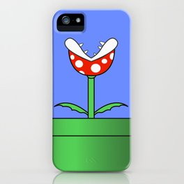 Minimalist Piranha Plant iPhone Case