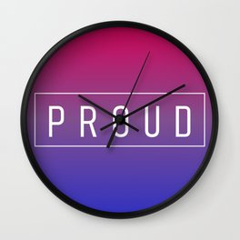 Bisexual Flag v2 - Pride Wall Clock