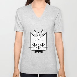 head of a cat vector icon Unisex V-Neck